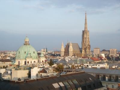 Blick auf Wien mit Stephansdom